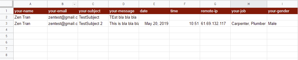compare basic data and useful data within google sheets