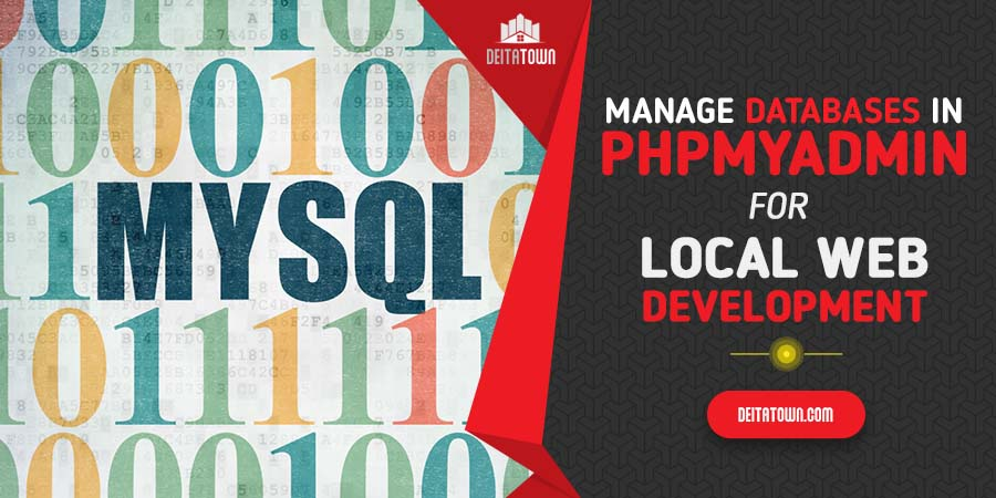 Manage databases in phpMyadmin for local web development